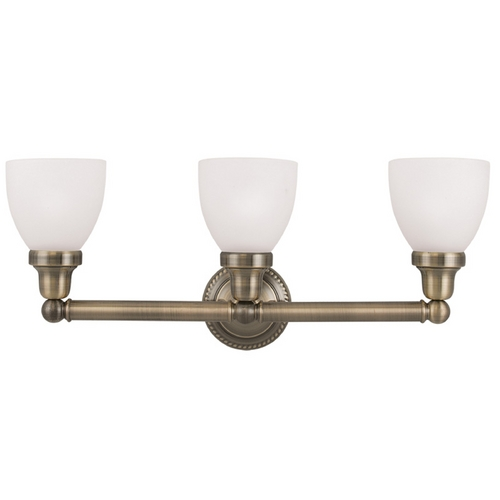 Livex Lighting Livex Lighting Classic Antique Brass Bathroom Light 1023-01