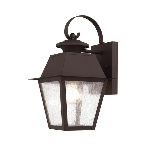 Livex Lighting Seeded Glass Outdoor Wall Light Bronze Livex Lighting 2162-07
