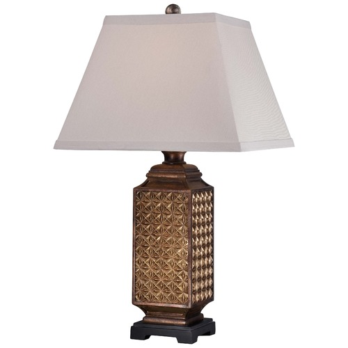 Minka Lavery Minka Bronze Table Lamp with Square Shade 13039-0