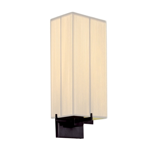 Sonneman Lighting Modern Sconce Wall Light with White Shade in Black Brass Finish 3353.51