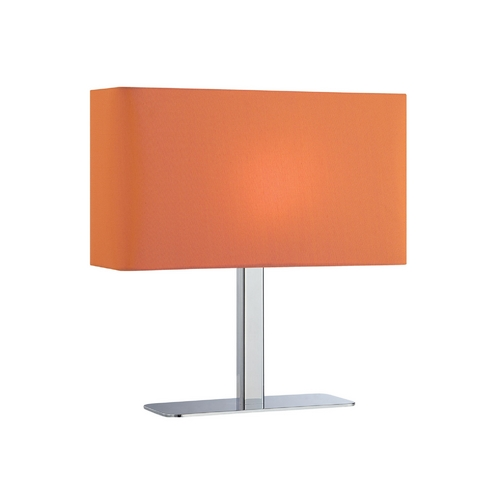 Lite Source Lighting Modern Console & Buffet Lamp with Orange Shade in Chrome Finish LS-21797C/ORN