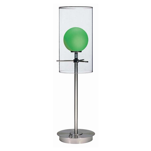 Lite Source Lighting Lite Source Lighting Burst Table Lamp with Cylindrical Shade LS-2149PS/L/GRN