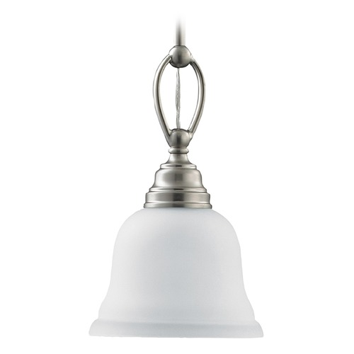 Sea Gull Lighting Mini-Pendant Light with White Glass 61625-962