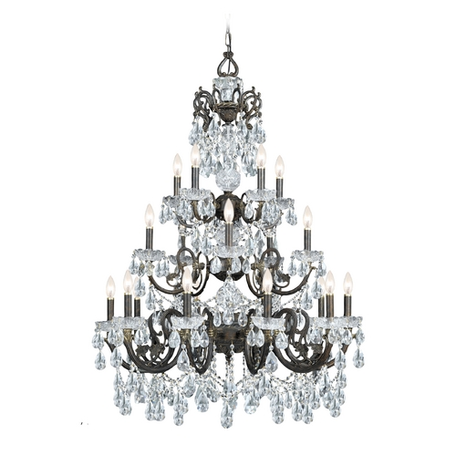 Crystorama Lighting Crystal Chandelier in English Bronze Finish 5190-EB-CL-S