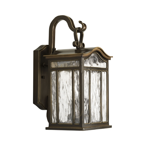Progress Lighting Water Seeded Glass Outdoor Wall Light Oil Rubbed Bronze Progress Lighting P5716-108