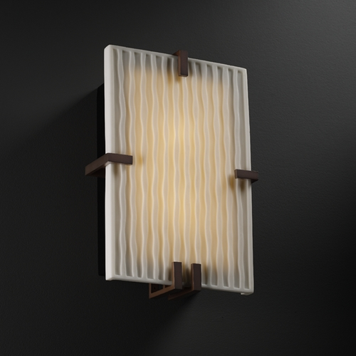 Justice Design Group Justice Design Group Porcelina Collection Sconce PNA-5551-WFAL-DBRZ