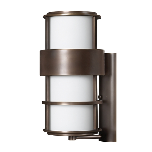 Hinkley Contemporary / Modern Outdoor Wall Light Bronze Saturn by Hinkley 1905MT