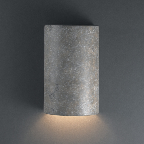 Justice Design Group Sconce Wall Light in Mocha Travertine Finish CER-0940-TRAM