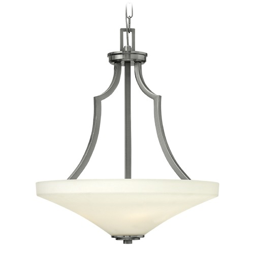 Hinkley Lighting Hinkley Lighting Spencer Brushed Nickel Pendant Light with Conical Shade 4193BN