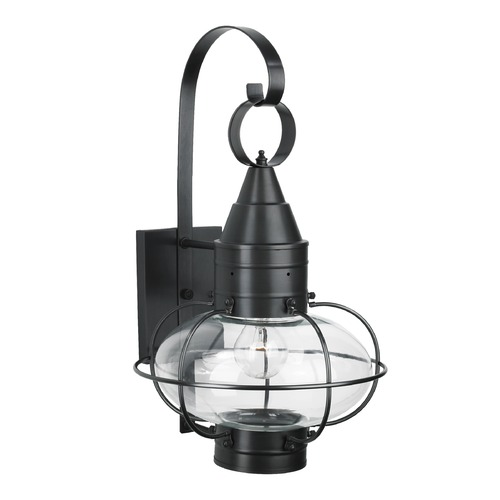 Norwell Lighting Norwell Lighting Classic Onion Black Outdoor Wall Light 1512-BL-CL