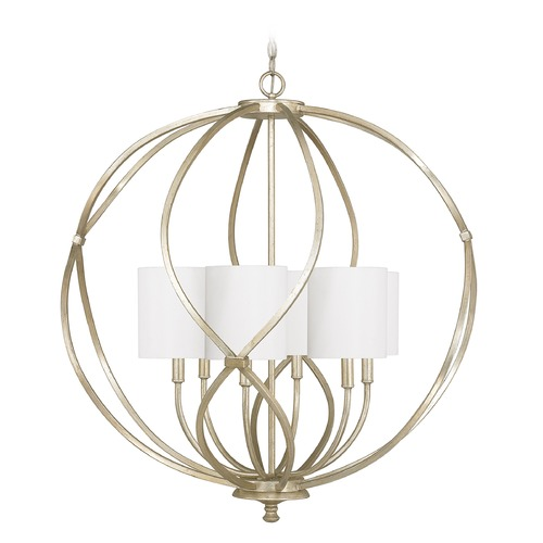 Capital Lighting Capital Lighting Bailey Winter Gold Pendant Light with Cylindrical Shade 4720WG-565
