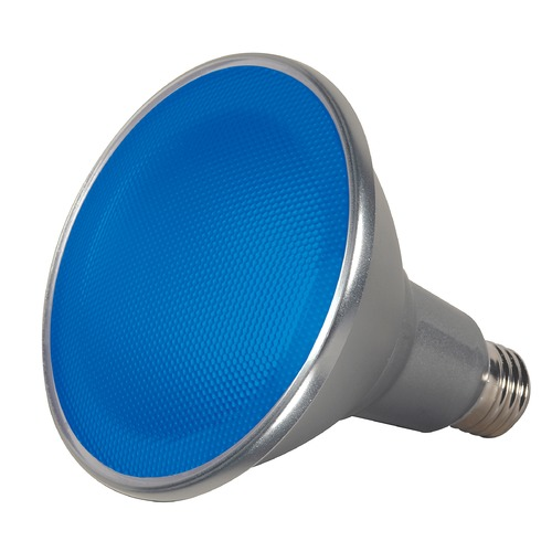Satco Lighting Blue 15W Medium Base LED Bulb PAR38 40 Degree Beam Spread Dimmable S9482