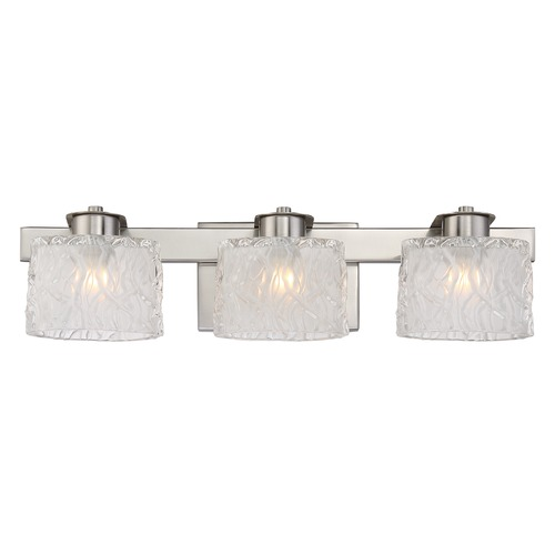 Quoizel Lighting Quoizel Lighting Platinum Collection Seaview Brushed Nickel Bathroom Light PCSW8603BNLED