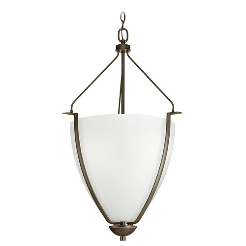 Progress Lighting Progress Lighting Bravo Antique Bronze Pendant Light with Bowl / Dome Shade P3969-20W