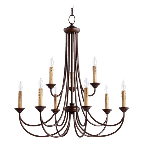 Quorum Lighting Quorum Lighting Brooks Oiled Bronze Chandelier 6250-9-86