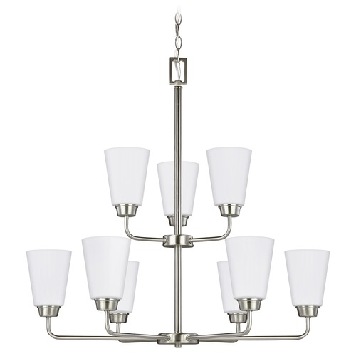 Sea Gull Lighting Sea Gull Lighting Kerrville Brushed Nickel LED Chandelier 3115209EN3-962