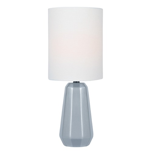 Lite Source Lighting Lite Source Charna Silver Table Lamp with Cylindrical Shade LS-23212SILV