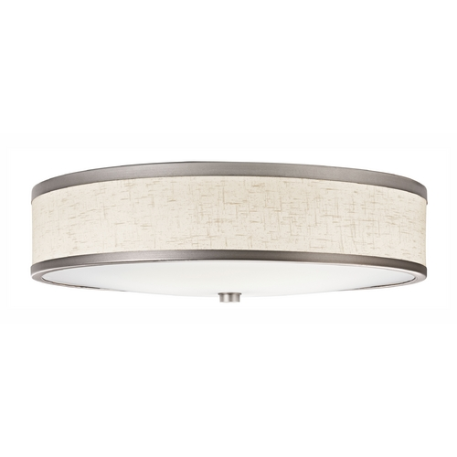 Kichler Lighting Kichler Flushmount Light with Beige / Cream Shade in Champagne Finish 10824CP