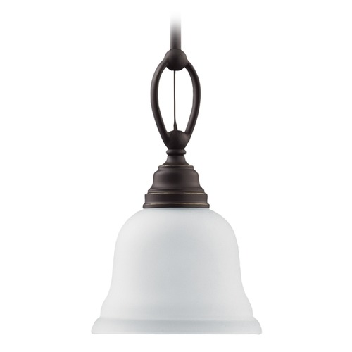 Sea Gull Lighting Mini-Pendant Light with White Glass 61625BLE-782