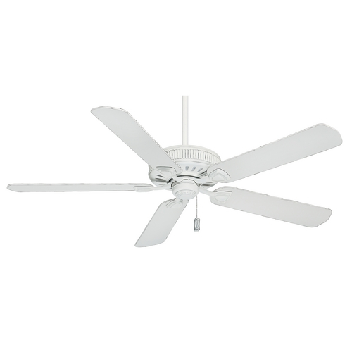 Casablanca Fan Co Casablanca Fan Ainsworth Cottage White Ceiling Fan Without Light 55000