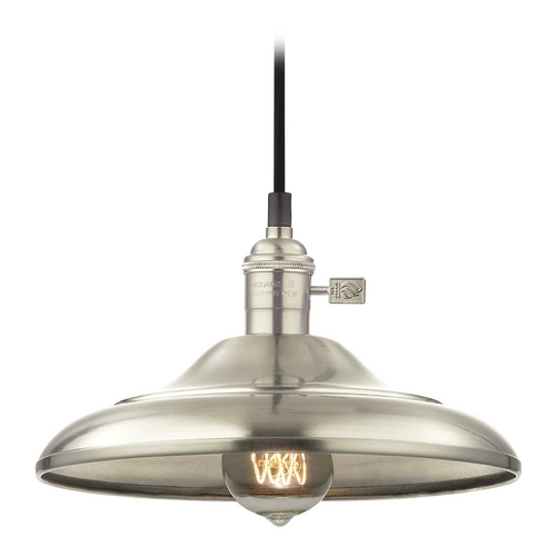 Design Classics Lighting Retro Hoyt Satin Nickel Mini-Pendant Light CA1-09 SHD1-09