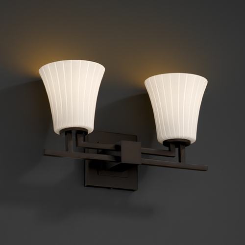 Justice Design Group Justice Design Group Fusion Collection Bathroom Light FSN-8702-20-RBON-DBRZ