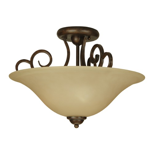 Jeremiah Lighting Jeremiah Cecilia Peruvian Bronze Semi-Flushmount Light 7118PR3SF