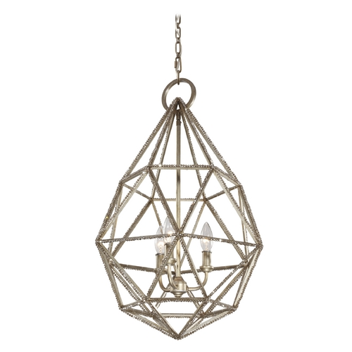 Feiss Lighting Feiss Lighting Marquise Burnished Silver Pendant Light P1312BUS