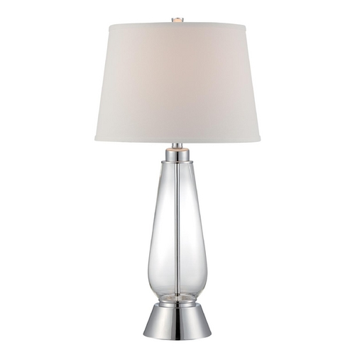 Lite Source Lighting Lite Source Lighting Danya Polished Steel Table Lamp with Drum Shade LSF-22546