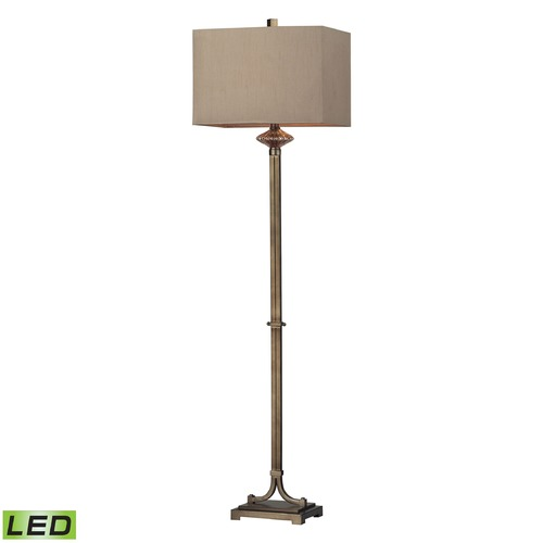 Dimond Lighting Dimond Lighting Antique Gold, Amber Antique Mercury LED Floor Lamp with Square Shade D2407-LED