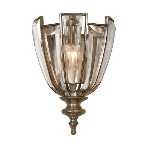 Uttermost Lighting Uttermost Vicentina 1 Light Crystal Wall Sconce 22494