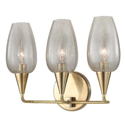 Hudson Valley Lighting Longmont 3 Light Bathroom Light - Aged Brass 4703-AGB