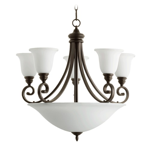 Quorum Lighting Quorum Lighting Bryant Oiled Bronze Chandeliers with Center Bowl 6254-9-186