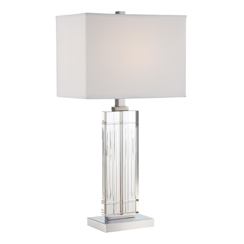 Lite Source Lighting Lite Source Talmon Chrome Table Lamp with Rectangle Shade LS-22702