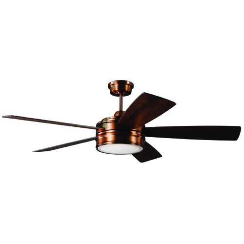 Craftmade Lighting Craftmade Lighting Braxton Brushed Copper LED Ceiling Fan with Light BRX52BCP5