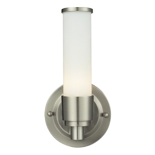Elk Lighting Modern Sconce Wall Light with White Glass in Satin Nickel Finish 84050/1