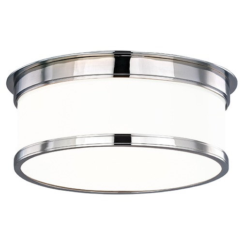 Hudson Valley Lighting Geneva 2 Light Flushmount Light Drum Shade - Polished Chrome 712-PC
