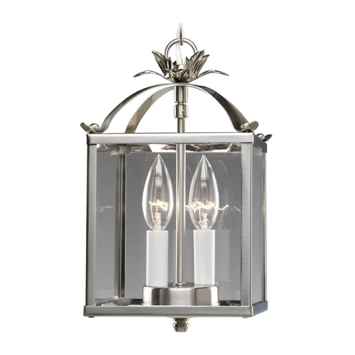 Progress Lighting Progress Modern Polished Nickel Mini-Pendant Light with Clear Glass P3690-09