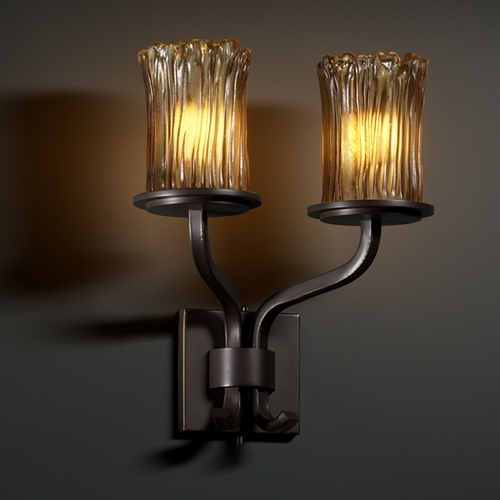 Justice Design Group Justice Design Group Veneto Luce Collection Sconce GLA-8782-16-AMBR-DBRZ
