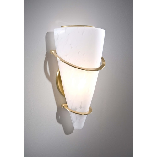 Holtkoetter Lighting Holtkoetter Modern Sconce Wall Light with White Glass in Brushed Brass Finish 2969 BB SCH