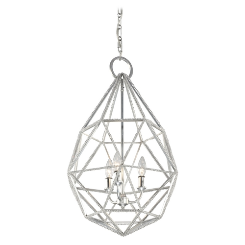Feiss Lighting Feiss Lighting Marquise Silver Pendant Light P1312SLV