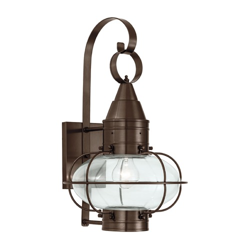 Norwell Lighting Norwell Lighting Classic Onion Bronze Outdoor Wall Light 1512-BR-CL