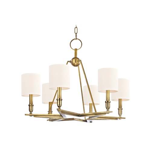 Hudson Valley Lighting Hudson Valley Lighting Bethesda Aged Brass Chandelier 4086-AGB-WS