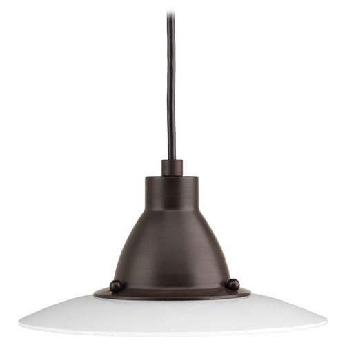 Progress Lighting Progress Lighting Avant Antique Bronze LED Mini-Pendant Light with Conical Shade P5072-2030K9