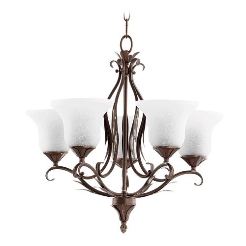Quorum Lighting Quorum Lighting Flora Vintage Copper Chandelier 6272-5-39