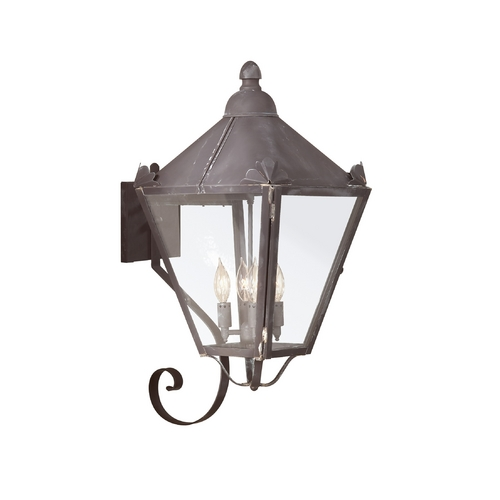 Troy Lighting Outdoor Wall Light with Clear Glass in Natural Rust Finish B8946NR