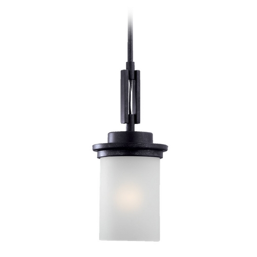 Sea Gull Lighting Modern Mini-Pendant Light with White Glass 61660-839