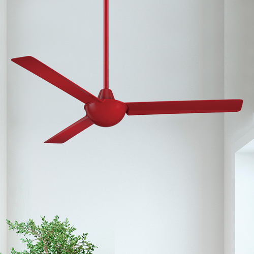 Minka Aire 52-Inch Modern Ceiling Fan Without Light in Red Finish F833-RD