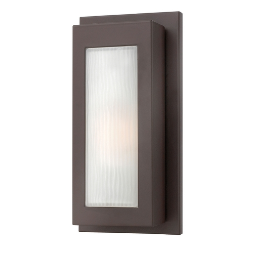 Hinkley Lighting Modern Outdoor Wall Light with White Glass in Buckeye Bronze Finish 2050KZ-GU24