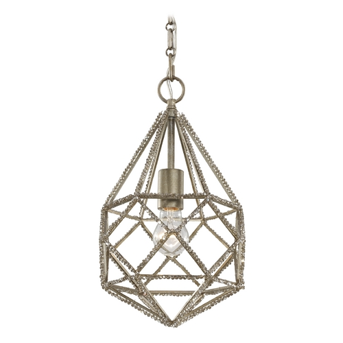 Feiss Lighting Feiss Lighting Marquise Burnished Silver Mini-Pendant Light P1313BUS